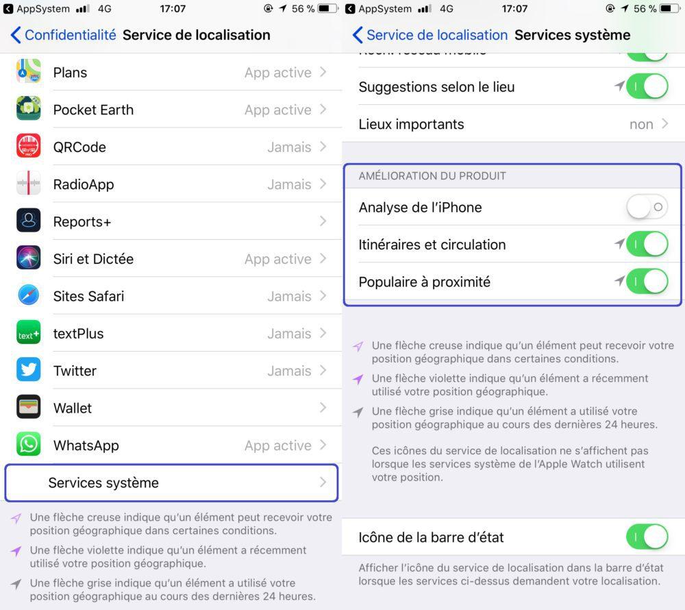 Service de Localisation Amelioration du Produit 1000x890 Comment protéger les données de localisation de votre iPhone sur iOS 11