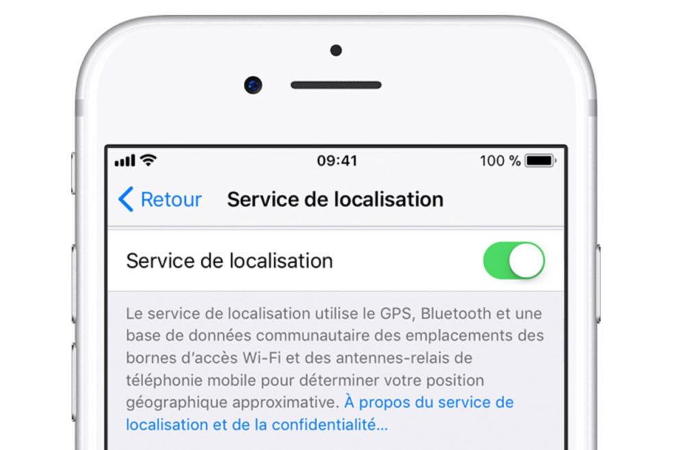 service localisation iphone ios 11