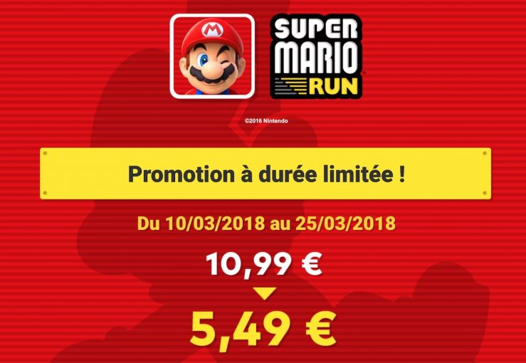 Super Mario Run Promo App Store : 50% de réduction sur Super Mario Run pendant 15 jours