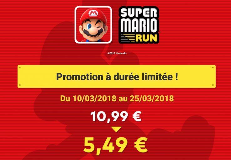 Super Mario Run Promo App Store : 50% de réduction sur Super Mario Run pendant 15 jours
