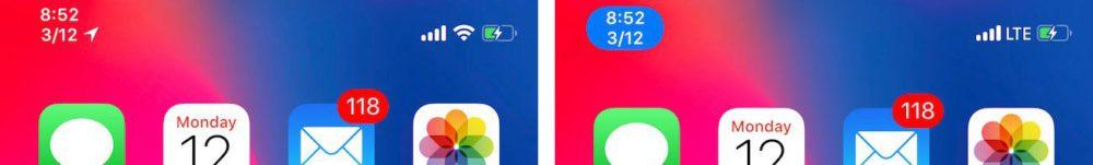 Tweak Status Bar iPhone X Cydia : DateUnderTimeX, ajouter la date en dessous de lheure sur iPhone X