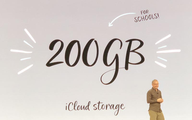 iCloud 200 Go Apple offre 200 Go de stockage iCloud aux étudiants