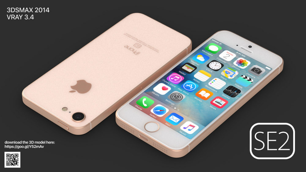 iPhone SE 2 Concept 4 Voici le concept iPhone SE 2 de Martin Hajek