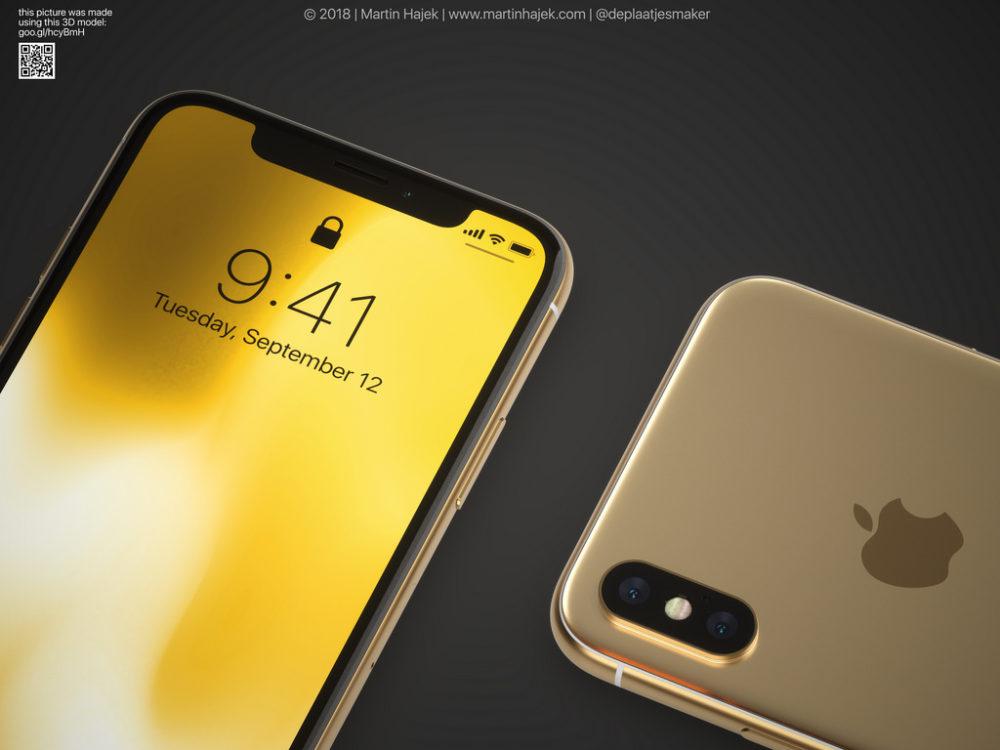 iPhone X Gold 1 Un concept diPhone X gold signé Martin Hajek
