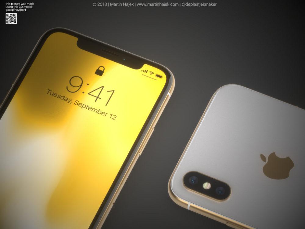 iPhone X Gold 2 Un concept diPhone X gold signé Martin Hajek