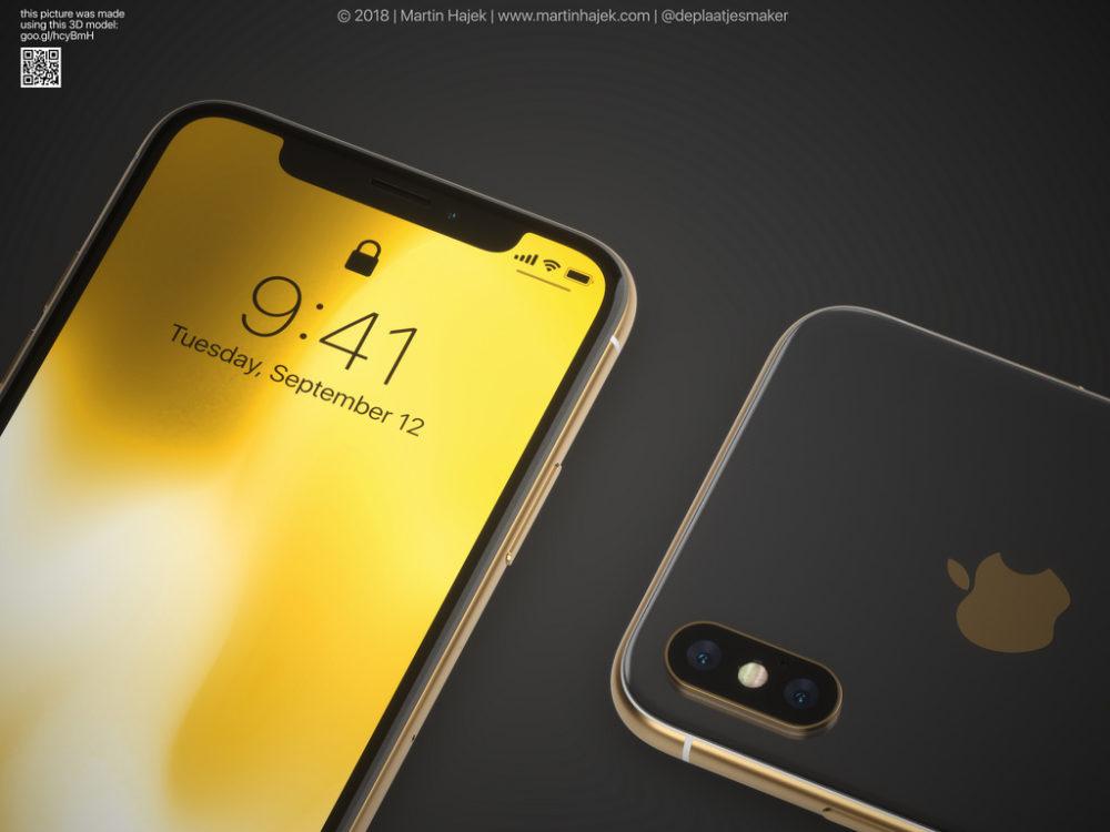 iPhone X Gold 3 Un concept diPhone X gold signé Martin Hajek