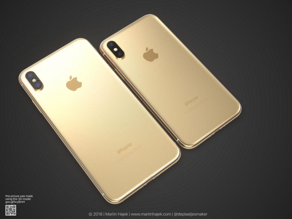iPhone X Gold 4 Un concept diPhone X gold signé Martin Hajek
