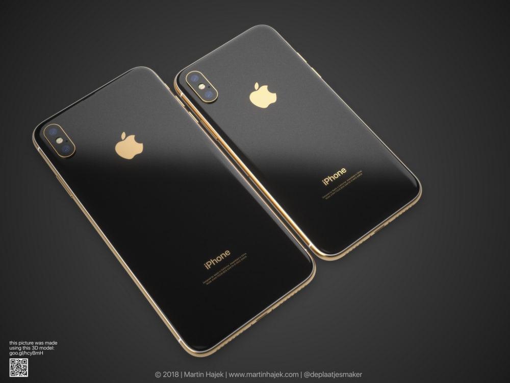 iPhone X Gold 5 Un concept diPhone X gold signé Martin Hajek