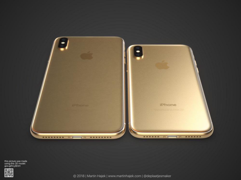 iPhone X Gold 7 Un concept diPhone X gold signé Martin Hajek