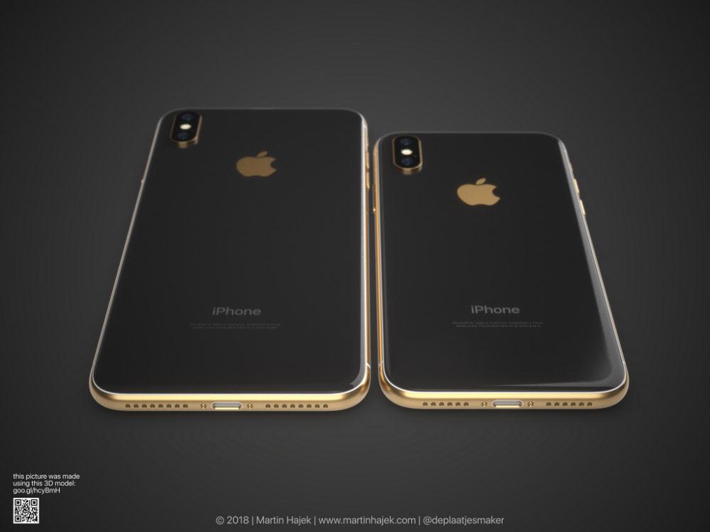 iPhone X Gold 8 Un concept diPhone X gold signé Martin Hajek