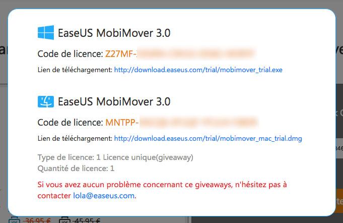 licence Bon plan : une licence de EaseUS MobiMover 3.0 gratuite