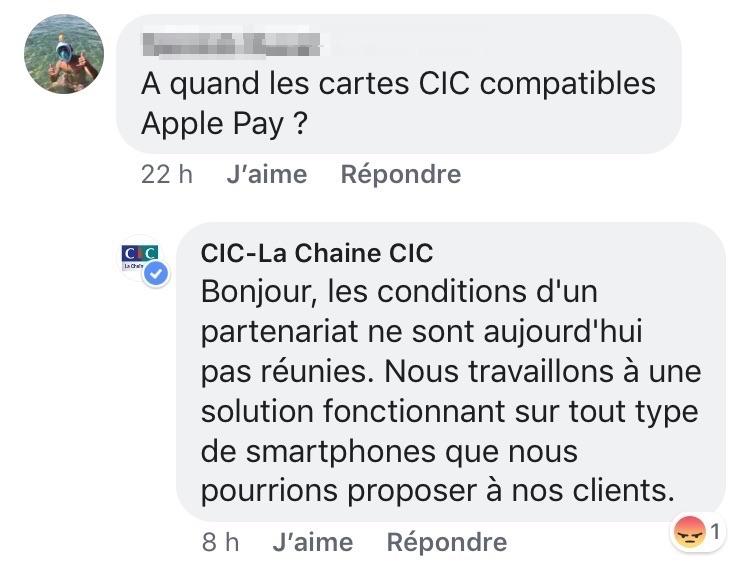 Apple Pay CIC Apple Pay à la CIC : ce nest pas pour bientôt