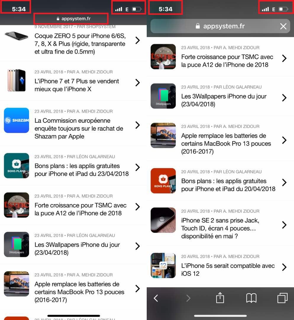 Atteindre Haut Safari iPhone X Comment atteindre rapidement le haut dune page sur iOS