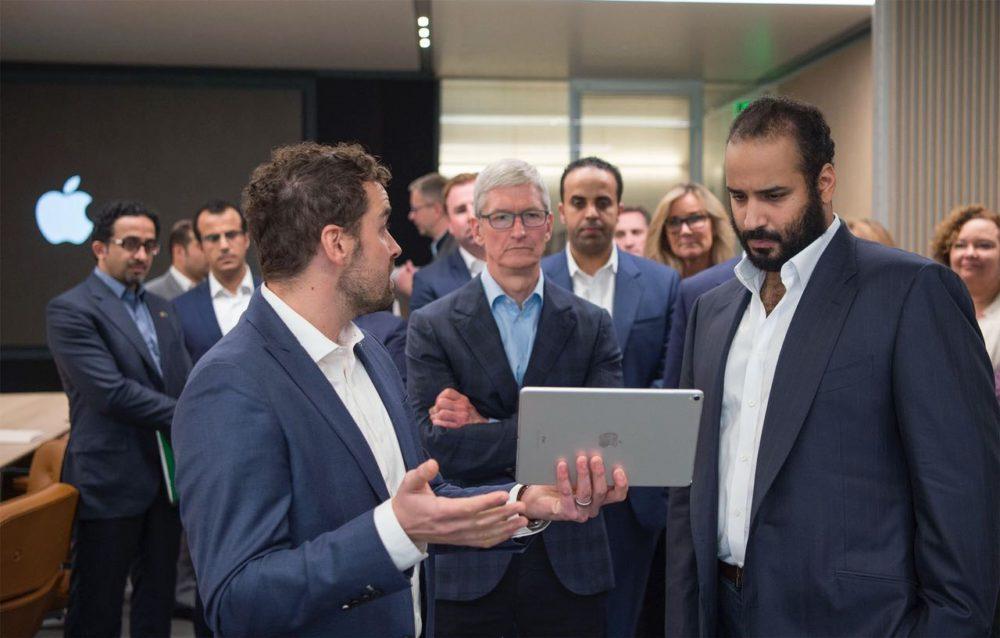 Prince Heritier Arabie Saoudite Apple Park Mohammed ben Salmane (prince héritier de lArabie Saoudite) en visite à lApple Park