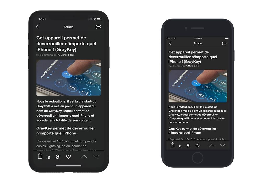 appsystem 3 App4Phone.fr 6.0 est disponible : compatible iOS 12, nouveau design et plus