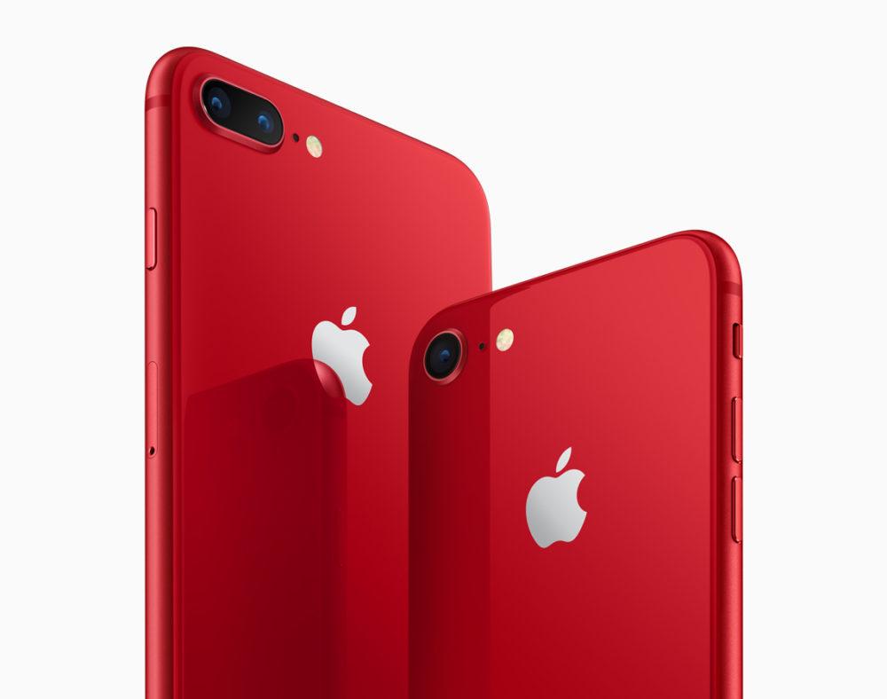 iPhone 8 rouges Apple dévoile liPhone 8 et 8 Plus rouges et un nouvel étui pour iPhone X