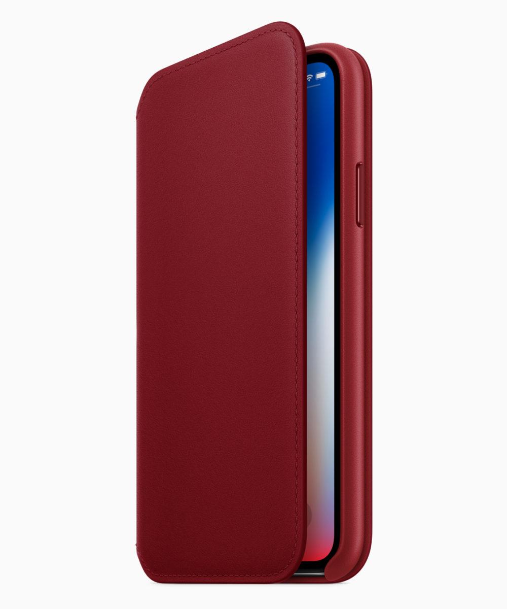 iPhone8 iPhone8PLUS PRODUCT RED Folio Case 041018 Apple dévoile liPhone 8 et 8 Plus rouges et un nouvel étui pour iPhone X