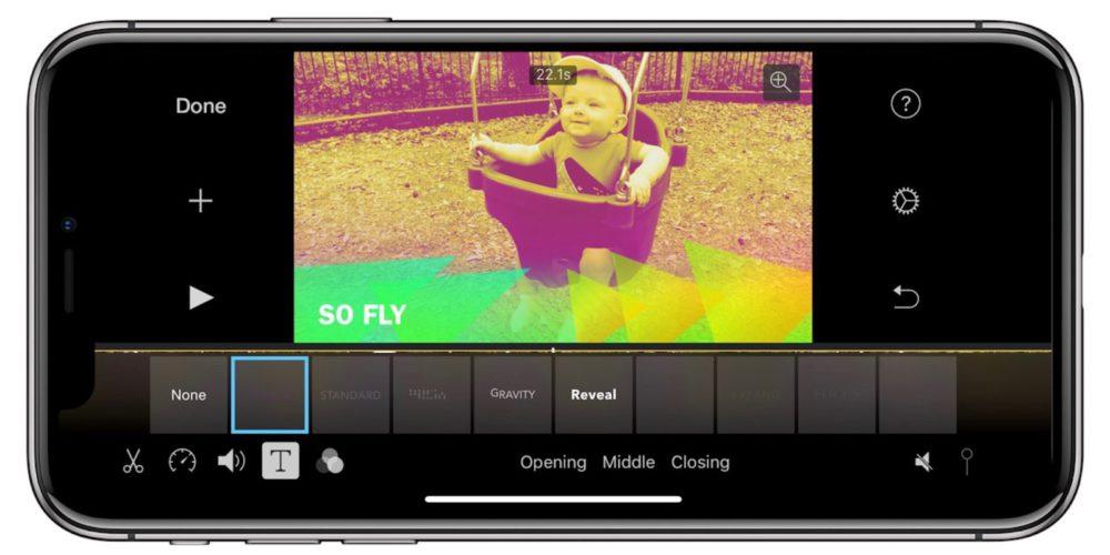 imovie iphone x Lapp iMovie enfin mise à jour pour iPhone X