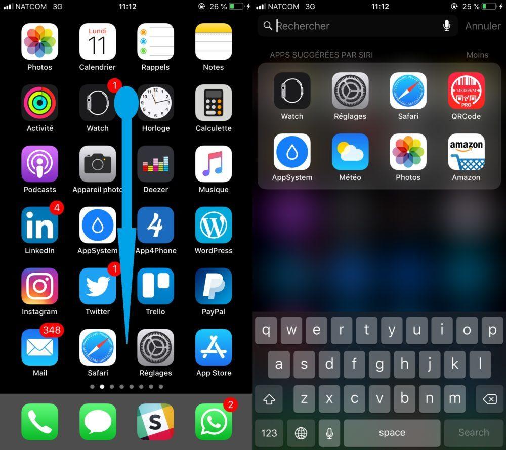 Activer Spotlight iOS 1000x890 Astuce : comment suivre vos vols sur iOS 11 et macOS High Sierra