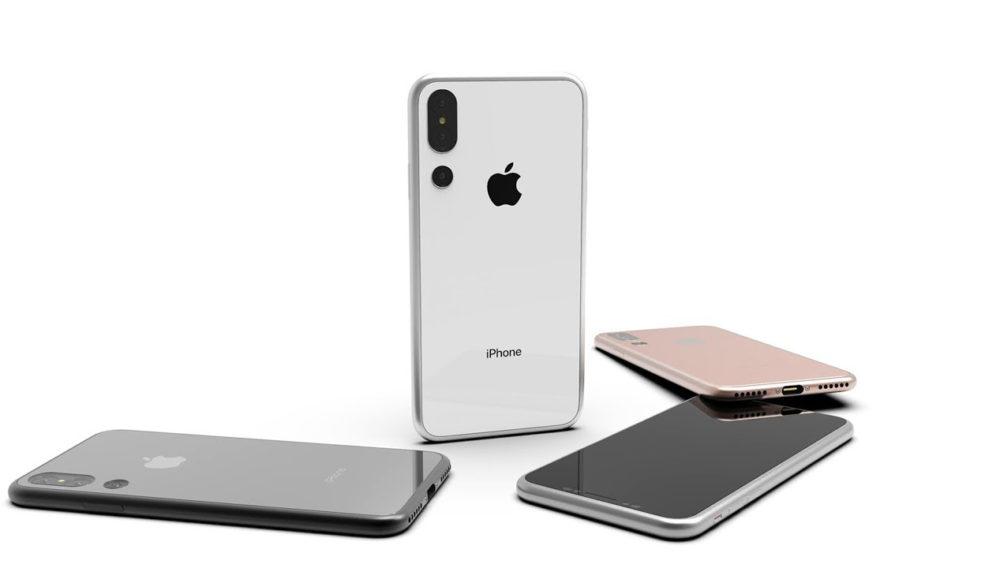 Concept iPhone 2018 3 Camera 2 Nouveau concept de liPhone de 2018 avec un triple capteur photo