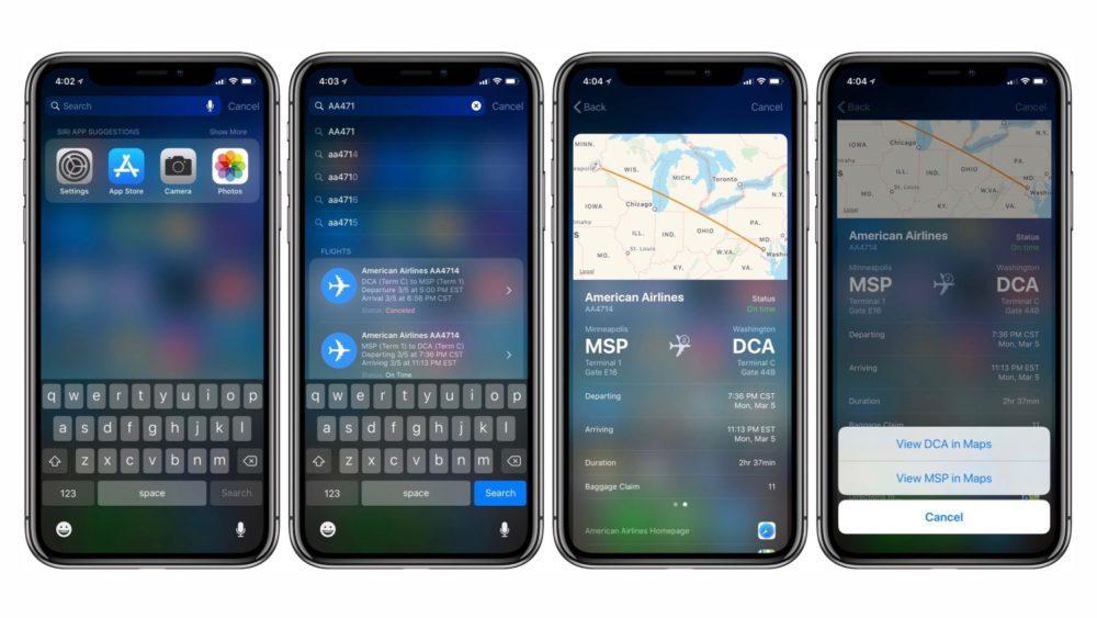 Suivre Vol Avion Sur iOS 11 1000x563 Astuce : comment suivre vos vols sur iOS 11 et macOS High Sierra