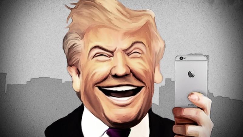 Trump iPhone Donald Trump utilise 2 iPhone et néglige totalement les protocoles de sécurité
