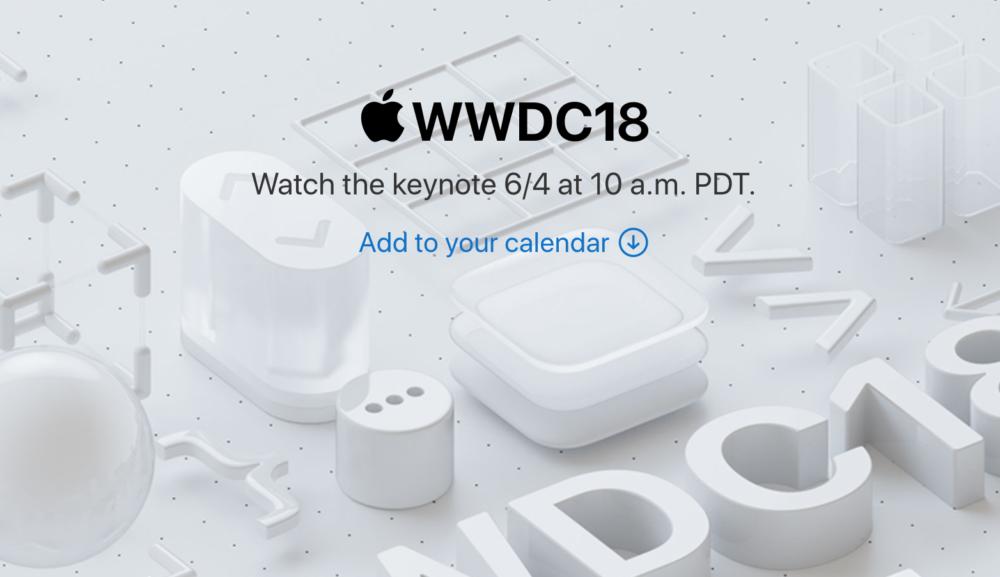 WWDC 18 Le keynote de la WWDC 2018 sera retransmis en direct