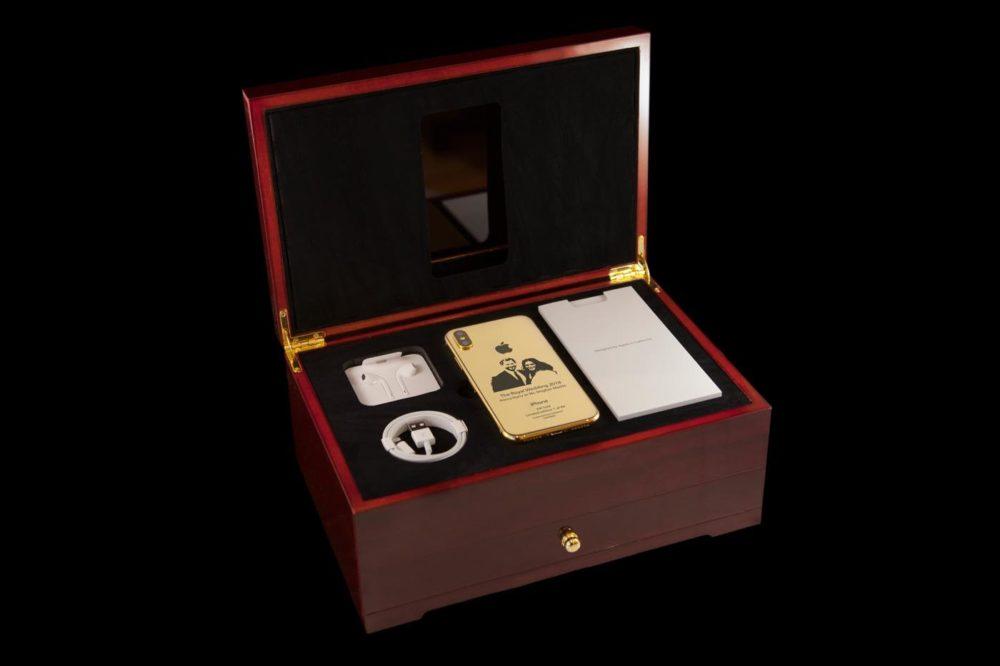 iPhone X Or 2 Insolite : un iPhone X en or de 4000$ à leffigie du Prince Harry et Meghan Markle
