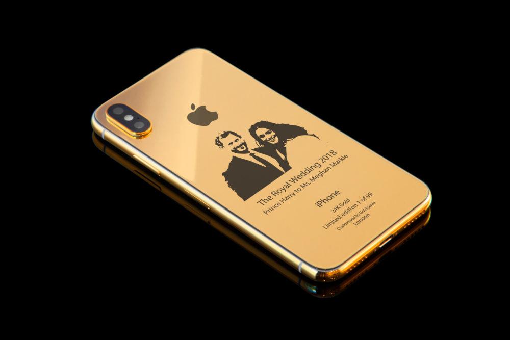 iPhone X Or 3 Insolite : un iPhone X en or de 4000$ à leffigie du Prince Harry et Meghan Markle