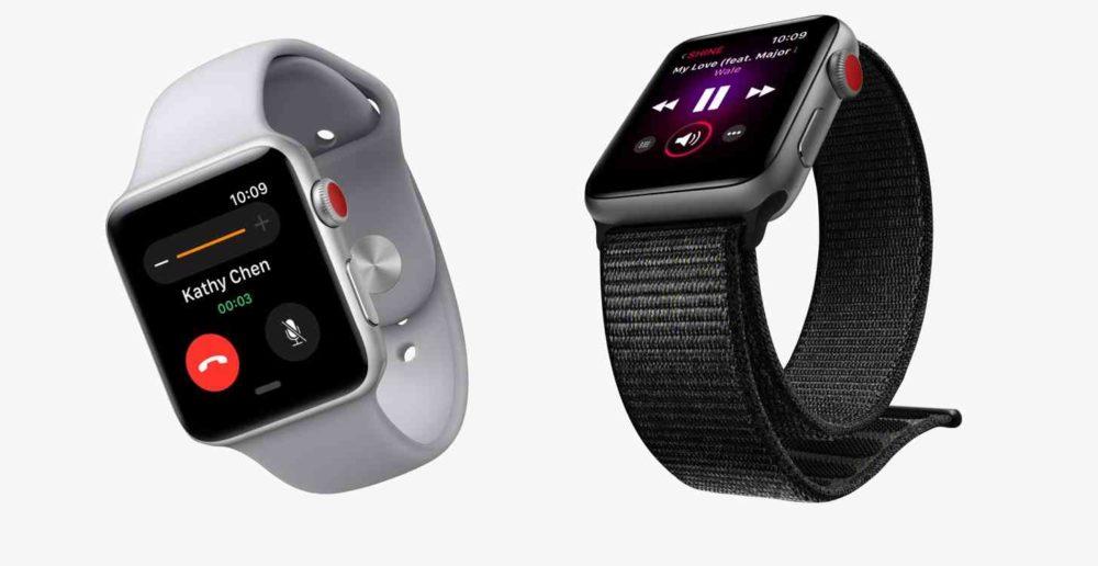 2 Apple Watch Series 3 1000x516 Apple a vendu 3,5 millions dApple Watch pour le Q2 2018, la version 4G un véritable succès