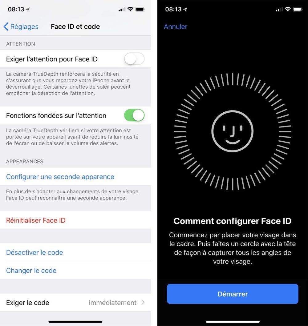2 Visages Face ID iOS 12 permet dajouter 2 visages sur Face ID