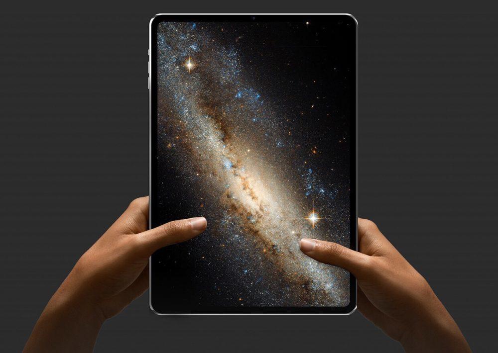 Concept iPad Pro Alvaro Pabesio 1000x710 iPad Pro 2018 : pas de port jack, face ID à la verticale, déplacement du Smart Connector ?