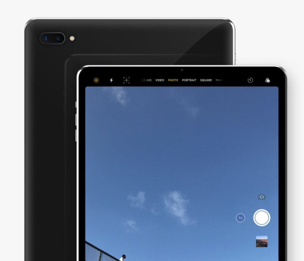 Concept iPad Pro Alvaro Pabesio Camera 1000x857 Un somptueux concept iPad Pro avec Face ID et un écran bord à bord