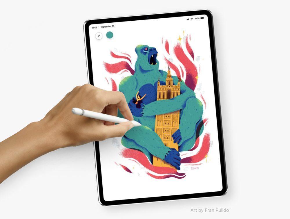 Concept iPad Pro Alvaro Pabesio Ecran 1000x753 Un somptueux concept iPad Pro avec Face ID et un écran bord à bord