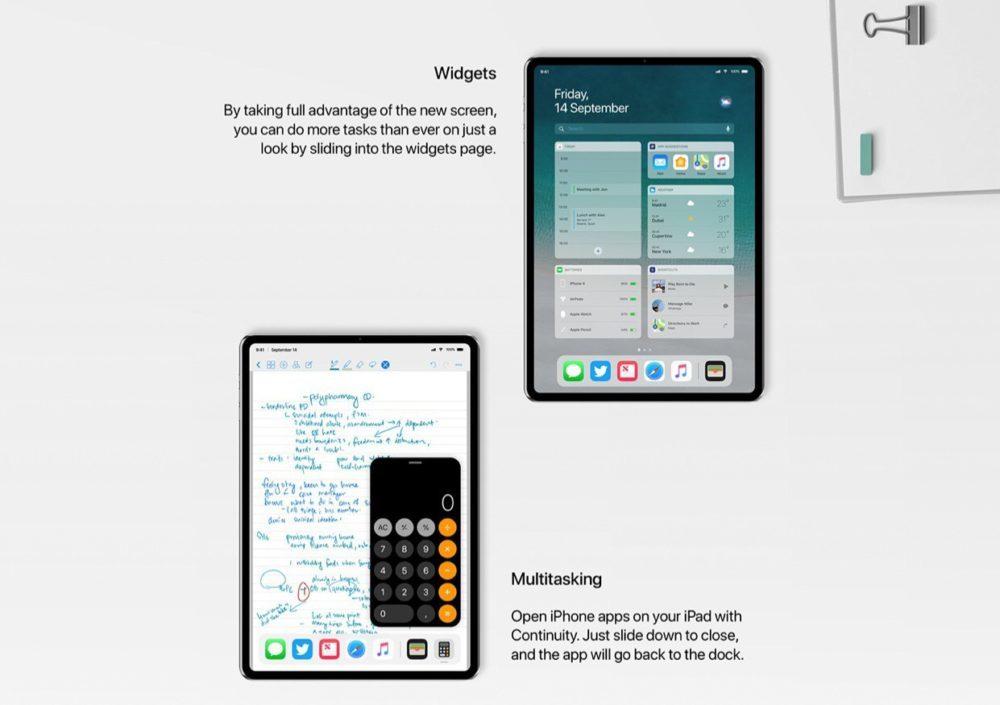 Concept iPad Pro Alvaro Pabesio Multitache 1000x705 Un somptueux concept iPad Pro avec Face ID et un écran bord à bord