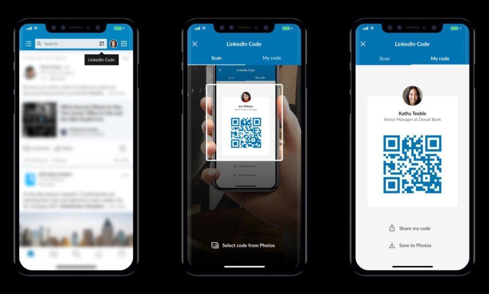 LinkedIn QR Code 1000x601 LinkedIn se met à jour et transforme votre profil en carte de visite numérique avec des codes QR