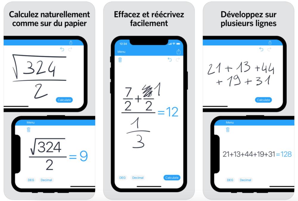 MyScript Calculator Lapp MyScript Calculator 2 est proposée gratuitement sur lApp Store