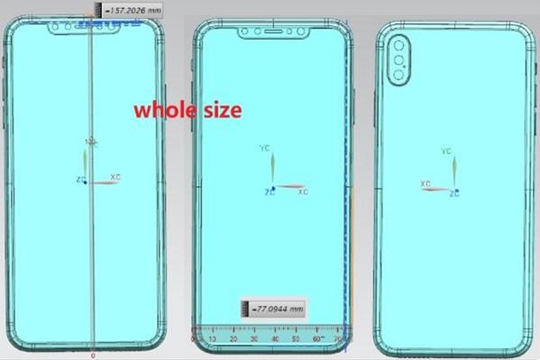 Schema 1 iPhone 2018 iPhone de 2018 : nouveaux schémas (dimensions, poids, APN...)