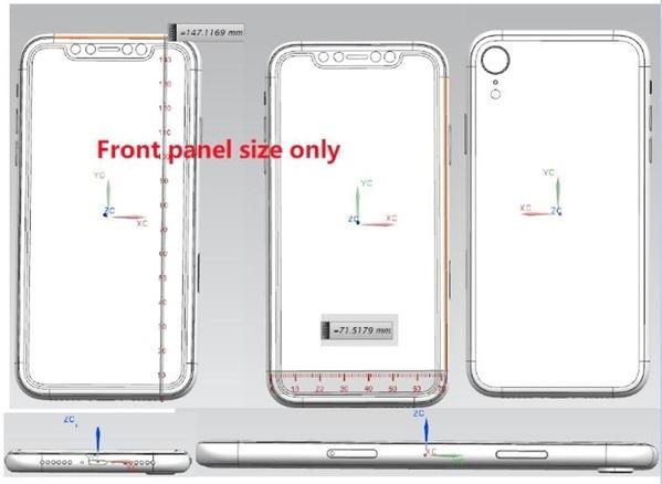 Schema 2 iPhone 2018 iPhone de 2018 : nouveaux schémas (dimensions, poids, APN...)