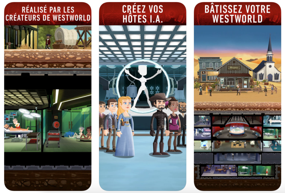 Westworld Le jeu officiel de Westworld est disponible sur lApp Store