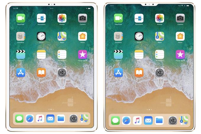 iPad Pro Encoche 2 Et si liPad Pro de 2018 était dépourvu dencoche ?