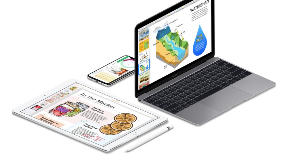 iWork 1000x570 iOS 12 / macOS Mojave : Apple met à jour sa suite iWork (Pages, Numbers et Keynote)