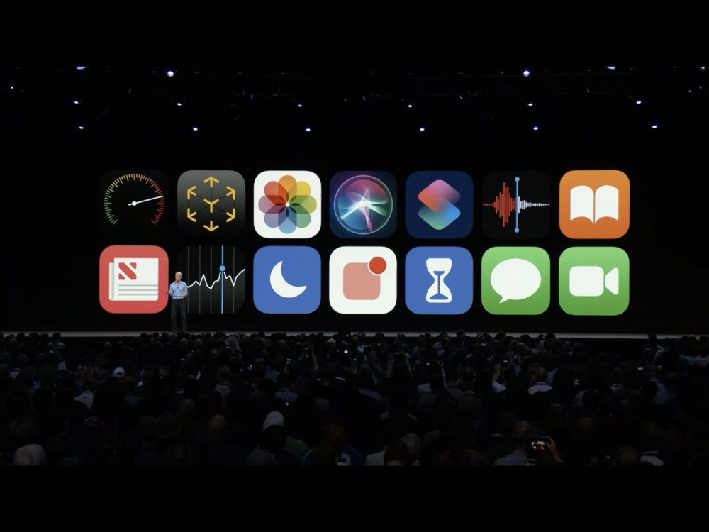 ios 12 stage screen Le replay du keynote de la WWDC 2018 est disponible