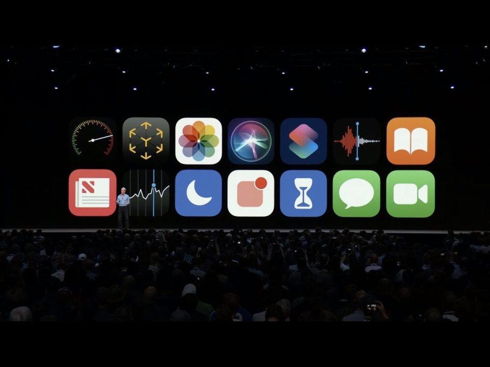 ios 12 stage screen Le replay du keynote de la WWDC 2018 est disponible