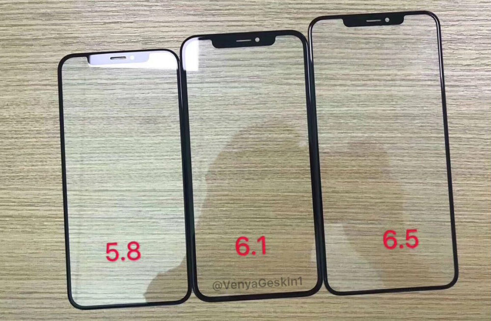 2018 iPhone Front Panels 1000x654 iPhone de 2018 : les façades avant se dévoilent en photos