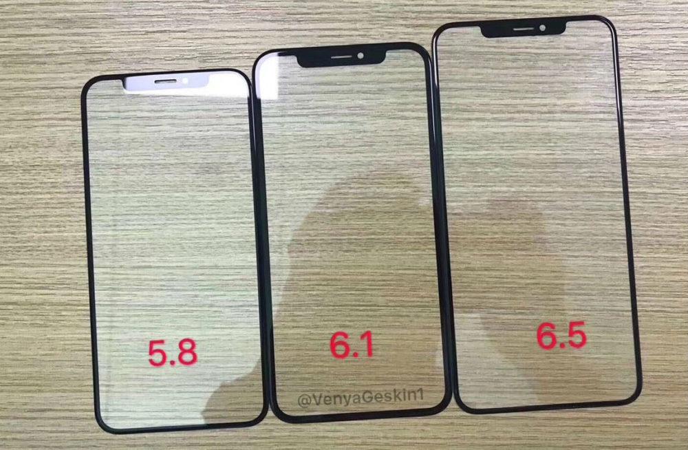 2018 iPhone Front Panels 1000x654 iPhone de 2018 : les façades avant se dévoilent en photos