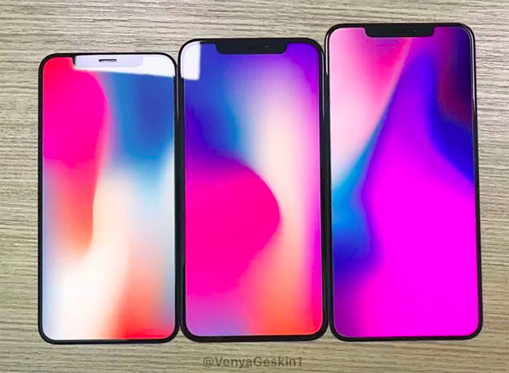 2018 iPhone Front Panels 2 1000x734 iPhone de 2018 : les façades avant se dévoilent en photos