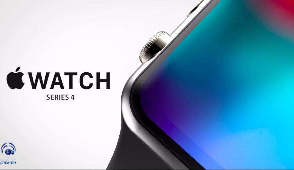 Apple WAtch Concept Creator 1000x578 Un concept Apple Watch Series 4 avec un écran plus large et bords arrondis