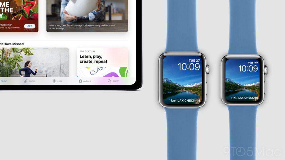 Concept iPad Pro Face ID Apple Watch Series 4 1000x563 Un concept montre à quoi pourraient ressembler liPad Pro Face ID et lApple Watch Series 4
