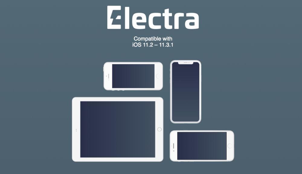 Electra Jailbreak Le jailbreak Electra diOS 11.3.1 désormais open source